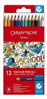 Lapices De Colores Caran Dache School Acuareablel X 12 1290-712 Cod. 089025291290712