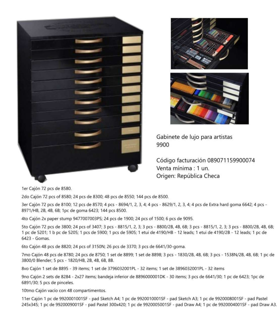 Gabinete de lujo para artistas koh i noor 99000740000 11 cajones gabinete de lujo para artistas koh i noor 99000740000 11 cajones con elementos urtaz Image collections