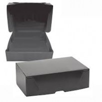 Caja Archivo Plastica Oficio 36 x 25 x 9 Cms. Negro Tapa Volcada Sin Impresion x 25 Unid. Cod. 1813/N/B