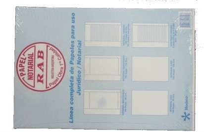 Papel Rab Notarial Marginado 4 Lados Oficio  90 Grs. x 100 Hjs. Cod. 2140
