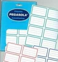 Etiqueta Pegasola Escolar 38 x 60 Mm. Borde Verde x 30 Hjs. De 8 Etiquetas C/U (240 Etiquetas) Cod.T8/34330/00