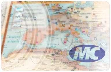 Mapa Mural Mundo Cartografico Cte.Americano Fisico-Politico  95X130 Cm Doble Faz-Laminado-Varillado Cod. K070Fpd/F
