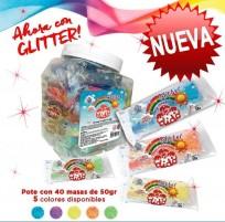 Masa Dido Glitter Pote x 40 Unid. Colores Surtidos Cod. 514001Po
