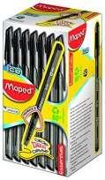 Boligrafo Maped Essentials Green Ice Negro x 50 Unid. Cod. 224431Ne