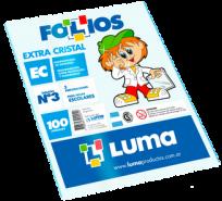 Folio Luma Polipropileno Extra Cristal Escolar Comercial 50 Micrones x 100 Unid. Cod. 31-15