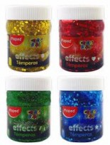 Tempera Maped Color Peps Colores Effect Pote x 200 Ml./250 Grs. x 4 Unid, Cod. Promo effect