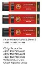 Minas Koh-I-Noor Gioconda 5,6 Mm. Estuche x 6 Unid. Cod. 1020710748693