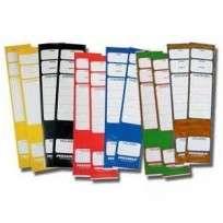 Lomo Pegasola Para Bibliorato 65 x 295 Mm. Amarillo x 20 Unid. Cod.T8/31600/00
