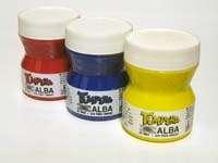 Tempera Alba Pote x 100 Ml. Azul Cyan Cromatico Cod. 8300-029/100