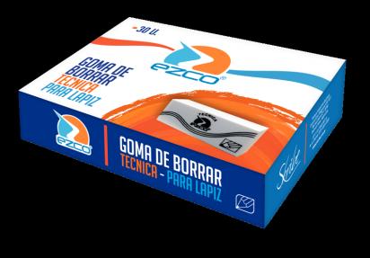Goma De Borrar Ezco Plastica Lapiz x 30 Unid. Cod. 200330