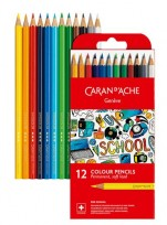 Lapices De Colores Caran Dache School Permanente X 12 1291-712 Cod. 089025301291712