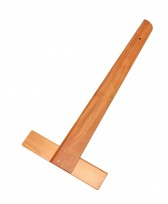"Regla ""T"" R.H.A. Pala Diagonal Biselada Madera Lustrada Nro. 141 Longitud 50 Cm. Cod.141/50"