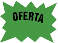 Cartel Para Precios CA Oferta .Cartulina Fondo Blanco, Dibujo Verde, Letra Negra Medidas 15 Cm. X 20 Cm. Pack X 8 Unid. Cod. Eg-03