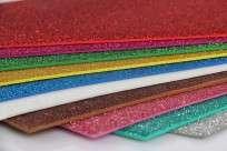Goma Eva Pax  45 x 60 Cms. Glitter Rojo Paq. x 10 Unid. Cod. 139902Ot