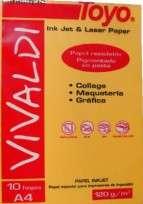 Papel Toyo Vivaldi A4 120 Grs. Oro x 10 Hjs. Cod. 17010004022