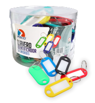 Llavero Plastico Identificador Multicolor Para Cofre Portallavero Tubo X 50 Unid.  Cod. 560001