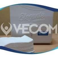 Toalla Vecom Intercalada 401  4 Pliegos / Bco Puro x 2500 Unid. Cod. PL 0018