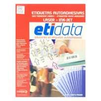 Etiqueta Etidata 8754 - 34 x 32 Mm. Laser A4 Blanca 5 Bandas Sobre x 25 Hjs. De 40 Etiquetas C/U (1000 Etiquetas) Cod.T8/87540/00