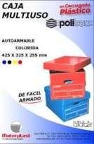 Caja Materplast Multiuso Polibox Azul 43 x 32 x 25 Cms. Cod. 1137/A