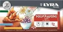 Pastel A La Tiza Lyra Polycrayons x 12 Unid. Cod. 5651120