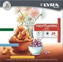 Pastel A La Tiza Lyra Polycrayons x 24 Unid. Cod. 5651240