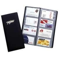 Portatarjeta Rab Forrado En Tela Plastica Alto Soldado Para  80 Tarjetas Color Azul Cod. 308/L/A