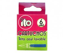 Cartucho Ito Tinta Azul Lavable x 6 Unid. Cod. 03901201001