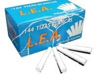 Tiza L.E.A. Blanca Comun Caja x 144 Unid. Cod. Tiblle144