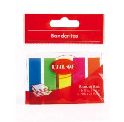 Banderitas Util Of 12 x 45 Mm. Colores 5 Pads x 25 Unid. Cod. M1070
