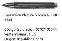 Portaminas Koh-I-Noor 5,6 Mm. Plastico Negro Cod. 8707105344