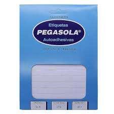 Etiqueta Pegasola 3025 - 20 x 50 Mm. Blanca Sobre x 30 Hjs. De 14 Etiquetas C/U (420 Etiquetas) Cod.T8/30250/00