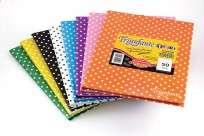 Cuaderno Triunfante 1 2 3 - 19 x 24 Tapa Carton Lunares Naranja x 50 Hjs. Rayado - 90 G/M2 Cod. 650123