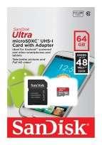 Memoria SanDisk Ultra Microsdhc-I Card 64 GB Cod. Me-Sd-M64Unb