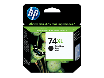 Cartucho Hewlett Packard  74 XL (CB336WL) Negro Alto Rendimiento 20 Ml. P/Officejet 5780 Cod. Ci-Hp-B33600