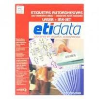 Etiqueta Etidata 8951 - 105 x 41 Mm. Laser Lento A4 Blanca 2 Bandas Caja x 500 Hjs. De 14 Etiquetas C/U (7000 Etiquetas) Cod.T8/89510/00