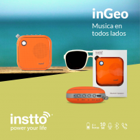 Parlante Instto Ingeo Bluetooth Naranja Cod. Bs-In-Bs9700