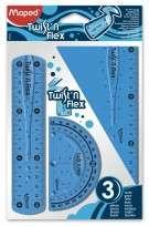 Juego Geometrico Maped Twistn Flex 15 Cms. x 3 Piezas Cod. 895024