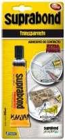 Adhesivo De Contacto Suprabond Extra Fuerte Transparente x   50 Ml. Blister Cod. Sbd Tr 50 B