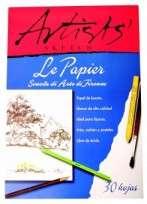 Block Le Papier Artist 35 x 50 Emblocado 140 Grs. x 30 Hjs. Cod. 17410001003