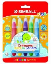 Crayon Simball para Baño Blister  X 5 Unid. Cod.0248009912