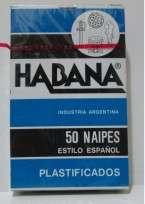 Naipes Habana Plastificado X 50 Cartas Cartulina Especial Cod.204