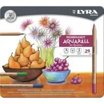 Lapices De Colores Lyra Rembrandt Aquarell x  24 Largos Lata Cod. 2011240