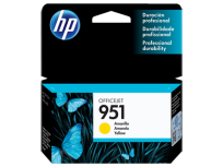 Cartucho Hewlett Packard 951 (CN052AL) Amarillo 8 Ml. P/Officejet Pro 8100/Officejet Pro 8600 Cod. Ci-Hp-052A00