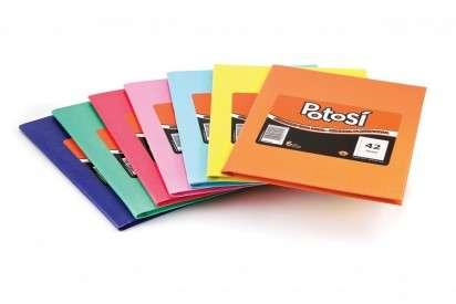 Cuaderno Potosi 16 x 21 Tapa Carton Araña Celeste x 42 Hjs. Rayado Cod. 419119