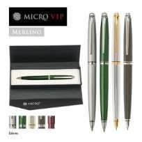 Boligrafo Microvip Serie Merlino Retractil Gris Metalizado Cod.0330600004