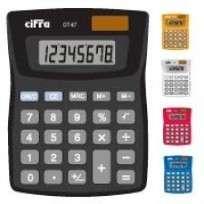 Calculadora Cifra De Escritorio DT   67 8 Digitos Negro Cod. Dt-67