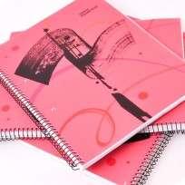 Cuaderno Essential 29.7 Con Espiral Tapa PP Rojo x 84 Hjs. Cuadriculado Cod. 100850