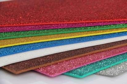 Goma Eva Pax  45 x 60 Cms. Glitter Celeste Paq. x 10 Unid. Cod. 139910Ot