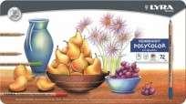 Lapices De Colores Lyra Rembrandt Polycolor x  72 Largos Lata Cod. 2001720