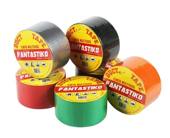 Cinta Adhesiva De Tela Laminada Con Polipropileno Fantastiko 48 Mm X 9 Mts Plata Cod 716 20 Red Librera
